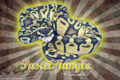 Burst Series Wallpaper - Ball Python Pastel Jungle Morph